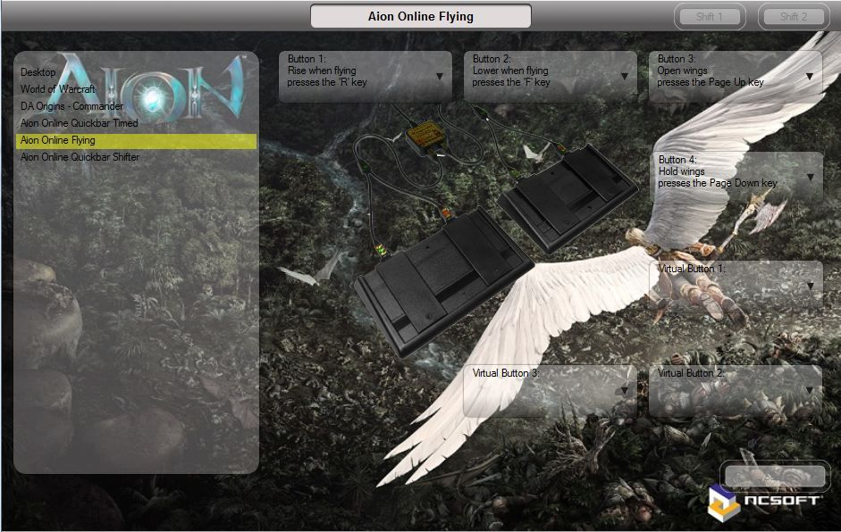Aion Online Flying Controls